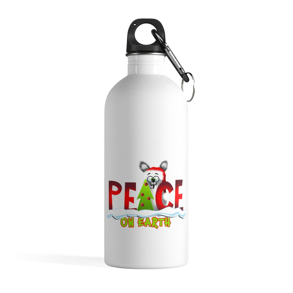 Peace on Earth; Stainless Steel Water Bottle