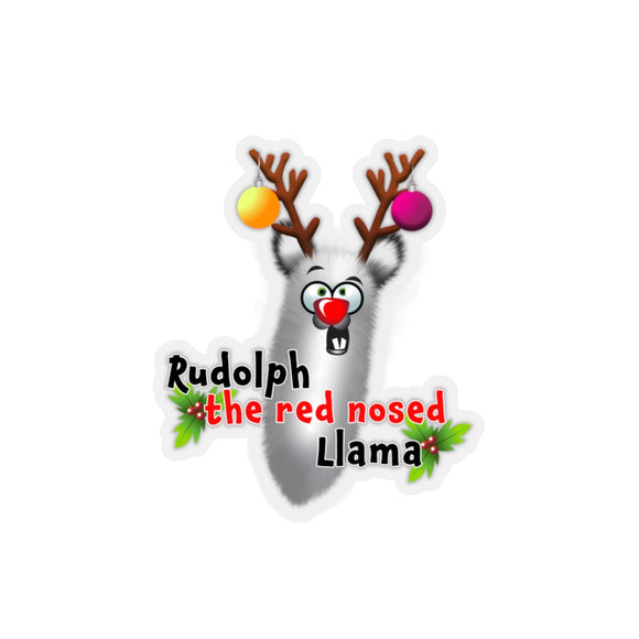 Rudolph the Red Nosed llama: Kiss-Cut Stickers