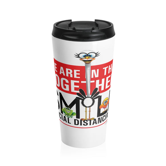 Smiling Ostrich - Stainless Steel Travel Mug