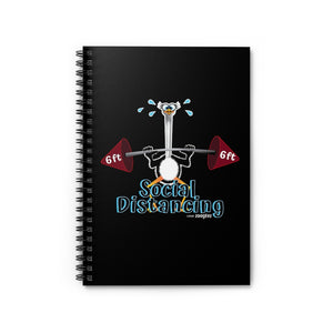 Weightlifting Ostrich - Spiral Notebook - Ruled Line