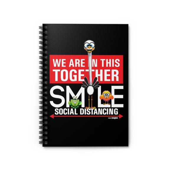 Smiling Ostrich - Spiral Notebook - Ruled Line