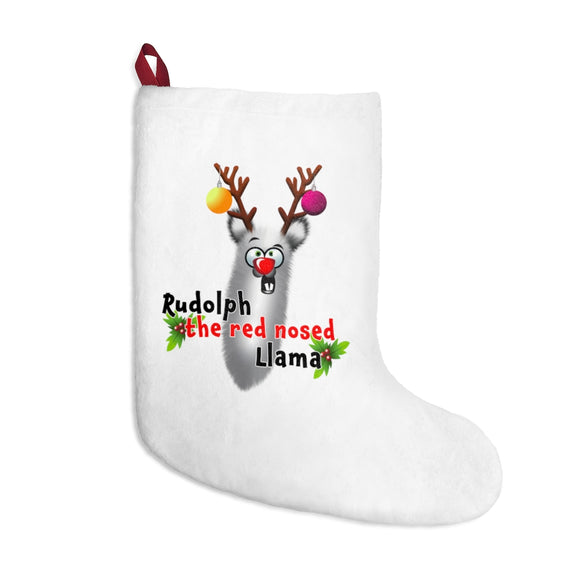 Rudolph the Red Nosed Llama: Christmas Stockings