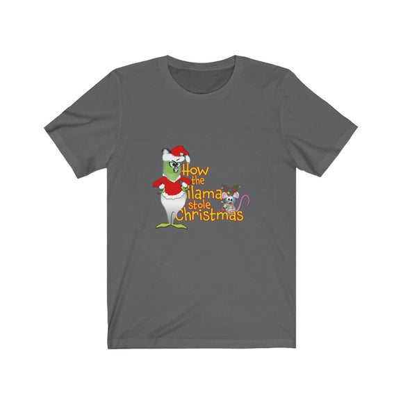 How the Llama stole Christmas: Unisex Jersey Short Sleeve Tee (Cdn)