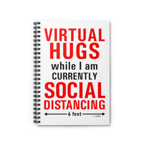 Virtual Hugs - Spiral Notebook - Ruled Line