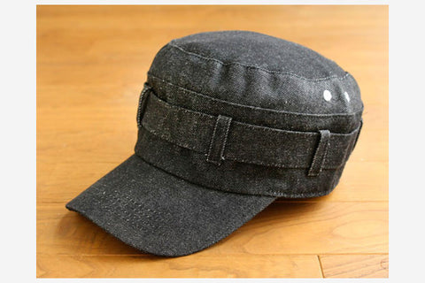 DENIM WORK CAP - Black