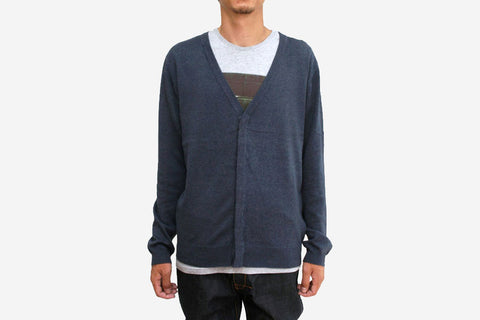 KEIFER CARDIGAN - Heather Total Eclipse