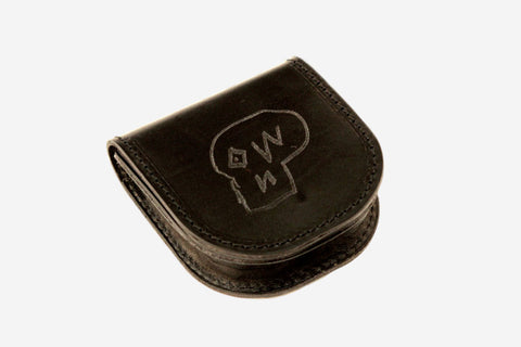LEATHER COIN PURSE - Black