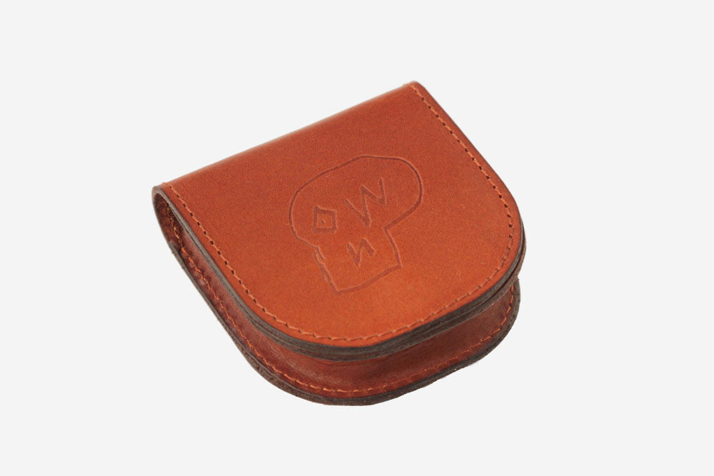 LEATHER COIN PURSE - Brown