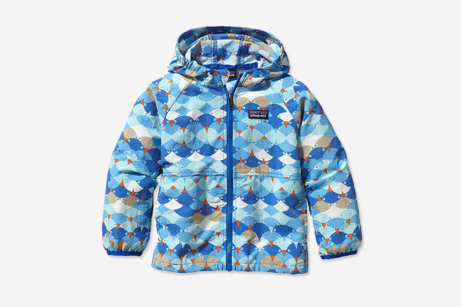 BABY BAGGIES JACKET - Snuggling Birds: Viking Blue