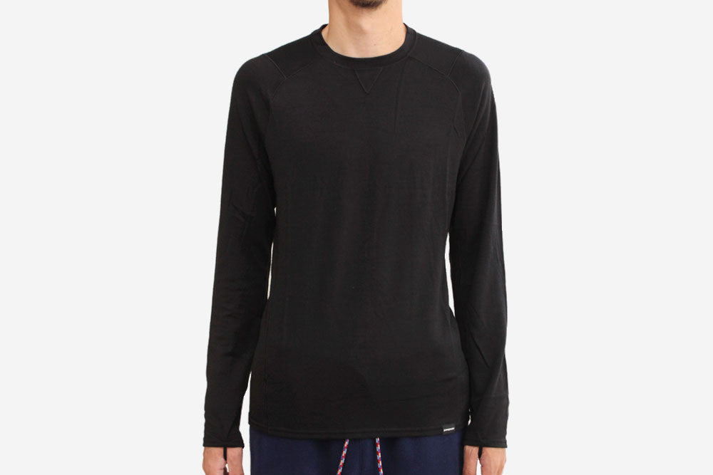 MEN'S MERINO 3 MIDWEIGHT CREW - Black