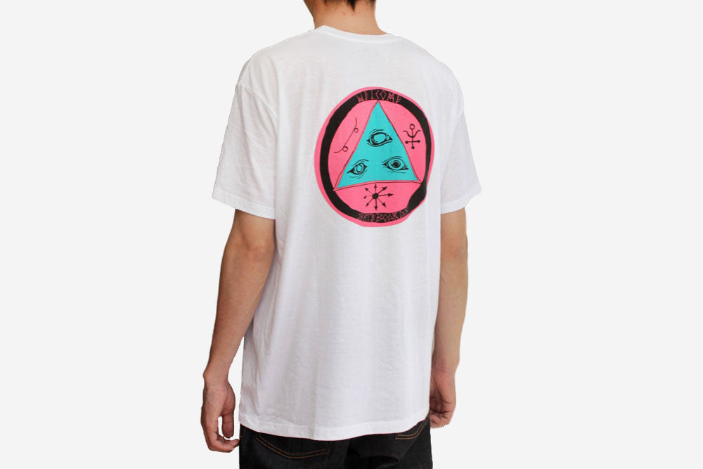 TALISMAN TRI COLOR TEE - White/Pink