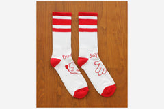 CARTOON SOCKS - Red