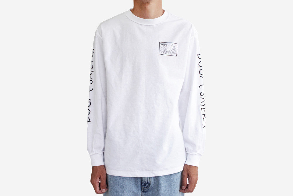 SNAKE SHAKE LONG SLEEVE T-SHIRTS - White