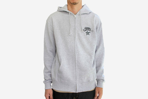 """GARDEN"" ZIP HOODY - Heather Grey"