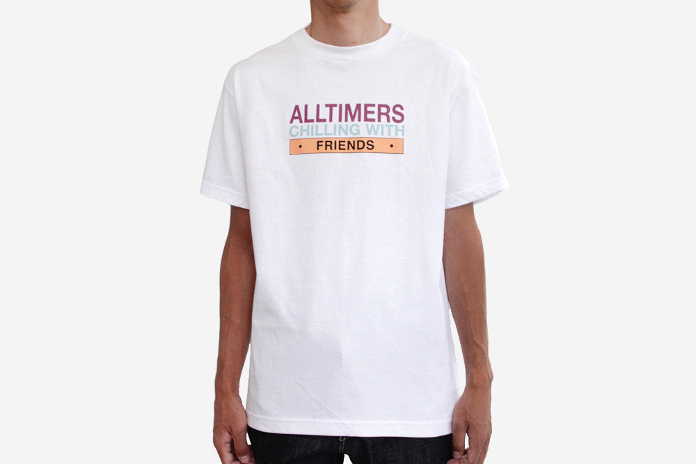 CHILLING WITH FRIENDS TEE - White