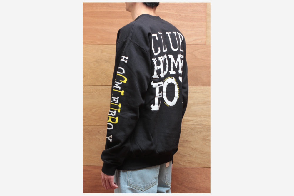 CLUB HOMEBOY CREWNECK - Black