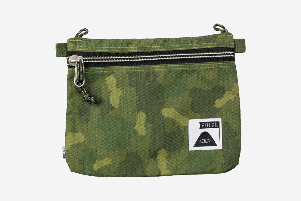 LARGE POUCH - Green Furry Camo