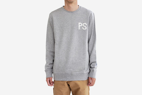 PS FELT CREW - Grey Heather