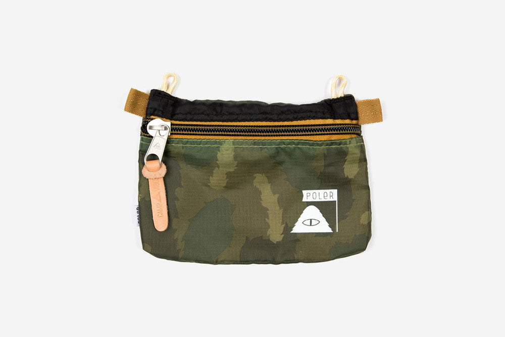 SMALL POUCH - Green Furry Camo