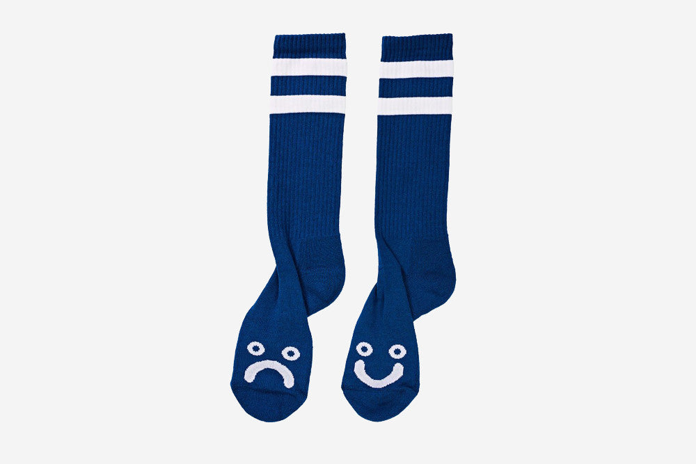 HAPPY SAD SOCK - 80's Blue/White