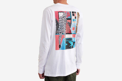 MAN WITH DOG LONGSLEEVE - White