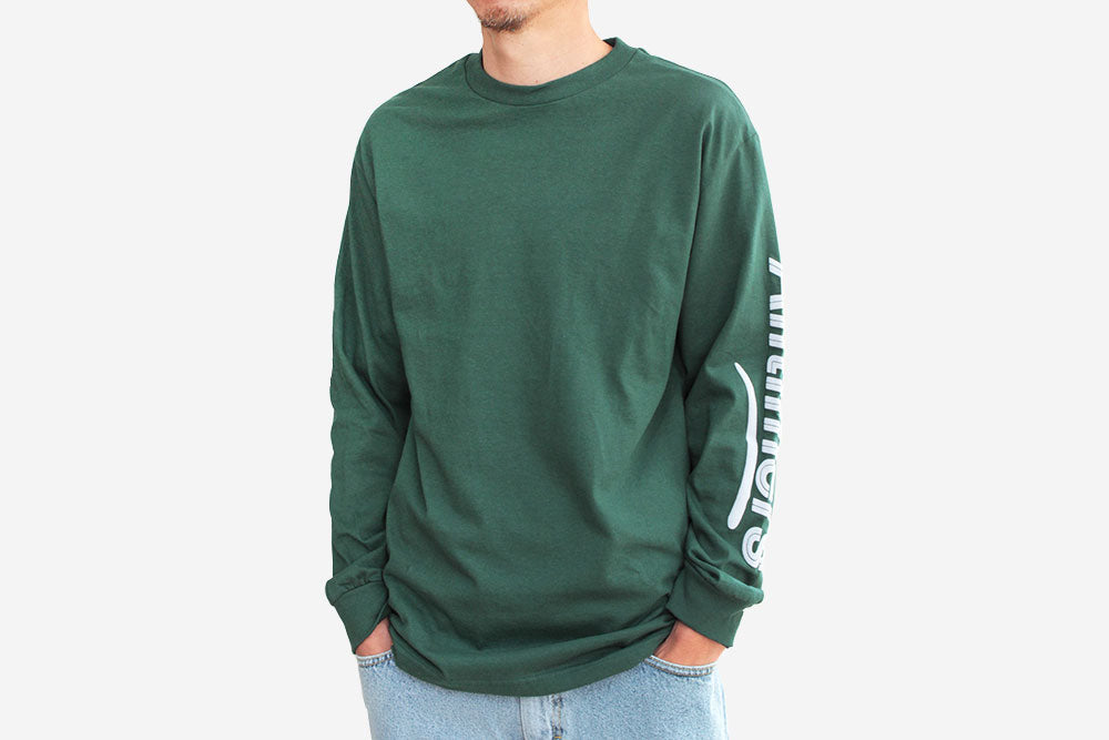 ESTATE PUFFY LONGSLEEVE TEE - Forest Green