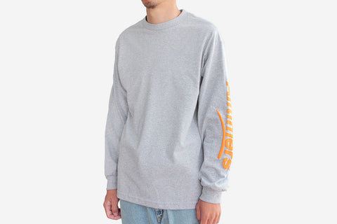 ESTATE PUFFY LONGSLEEVE TEE - Heather Grey