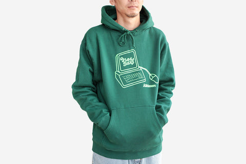 INTERWEB HOODY - Forest Green