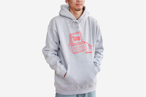 INTERWEB HOODY - Heather Grey