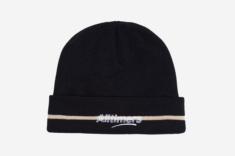 LINED ESTATE BEANIE - Navy