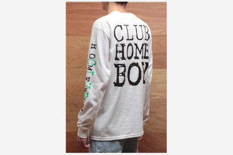 CLUB HOMEBOY L/S TEE - White
