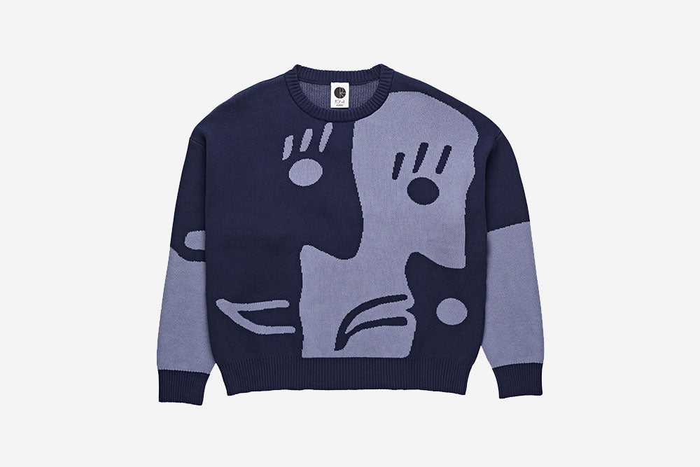 ART KNIT SWEATER - Blue/Blue