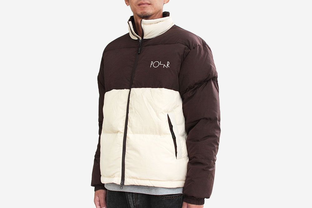 COMBO PUFFER - Brown/Cream