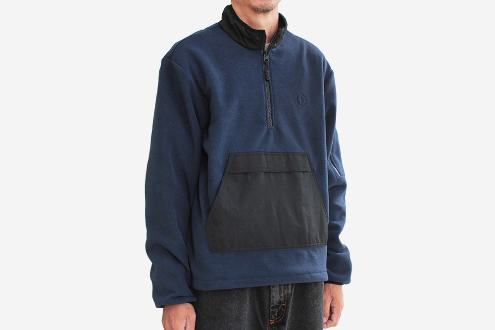 GONZALEZ FLEECE JACKET - Black/Obsidian Blue