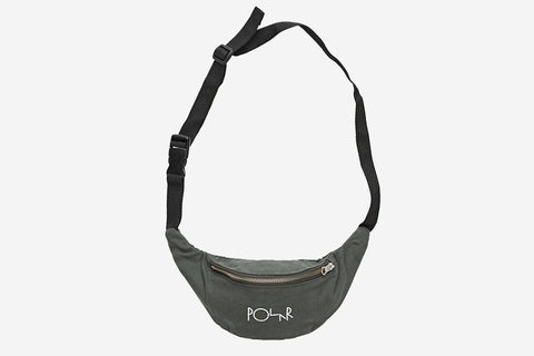 SCRIPT LOGO HIP BAG - Grey Green