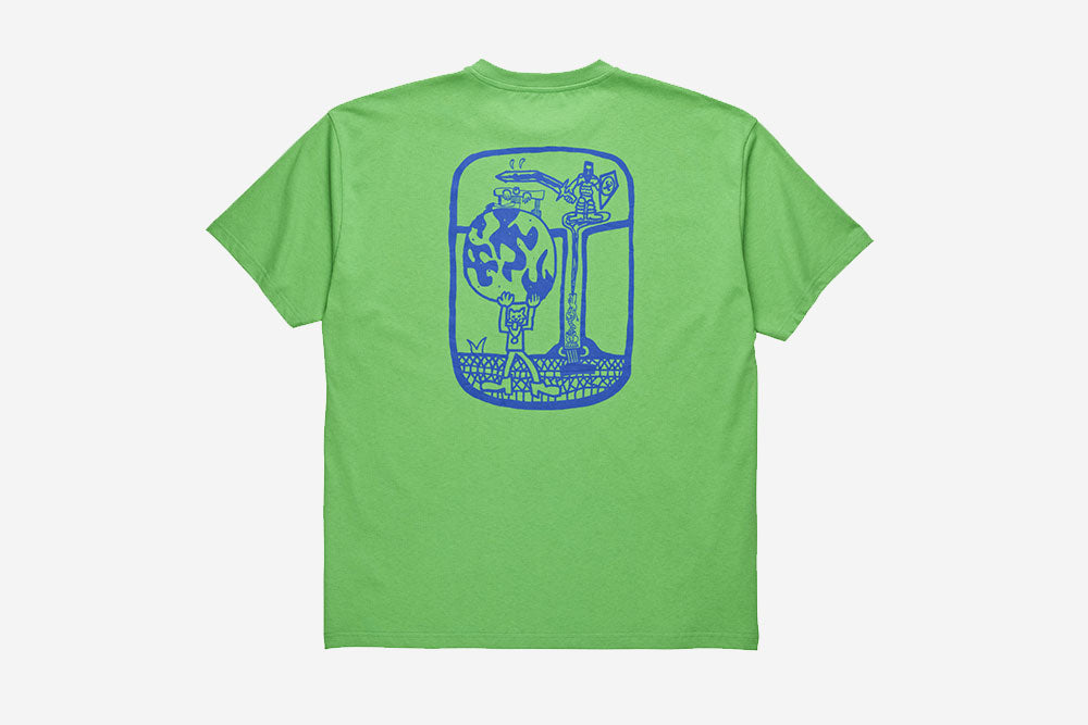 WORLD ENDING TEE - Apple Green