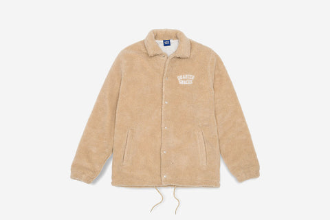 CHUNKY FLEECE COACH JACKET - Tan