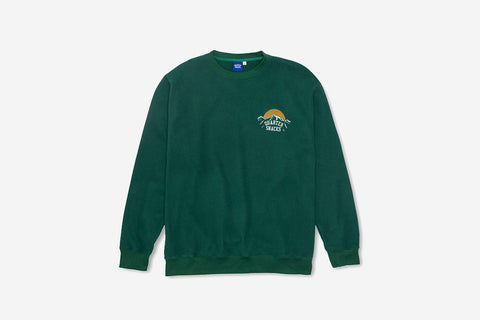 MOUNTAIN LOGO MICROFLEECE CREWNECK - Hunter Green