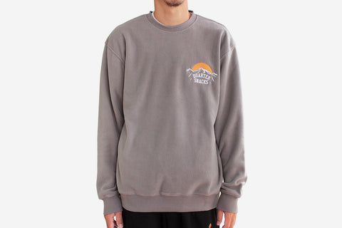 MOUNTAIN LOGO MICROFLEECE CREWNECK - Charcoal Grey
