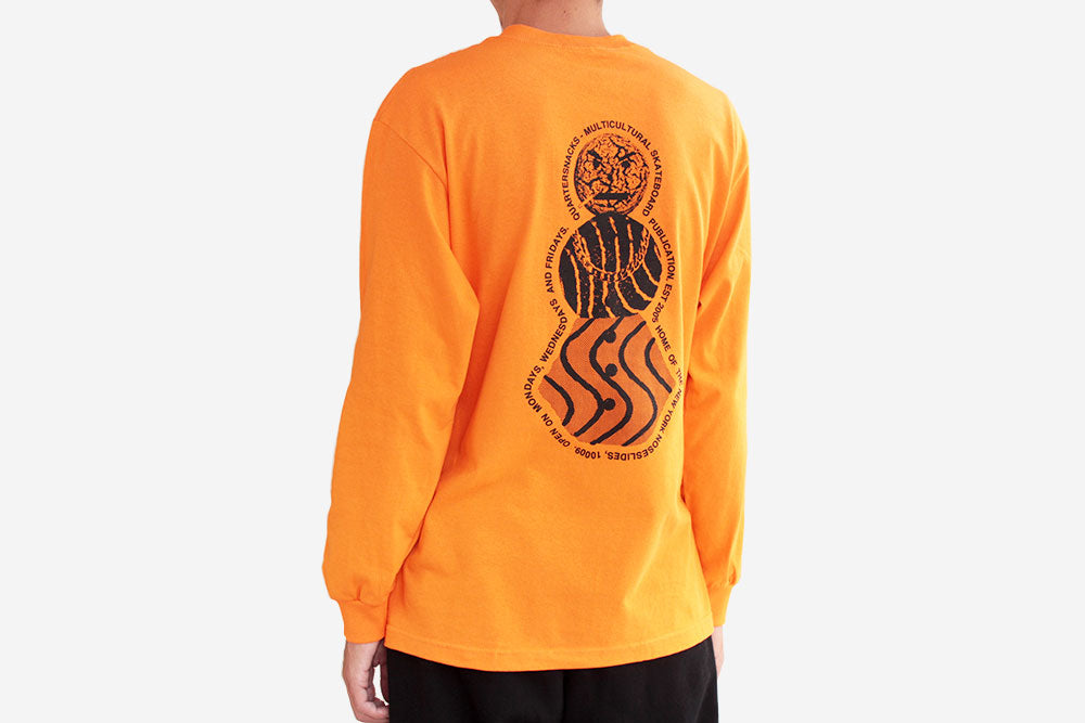 SNACKMAN FLYER LONGSLEEVE TEE - Orange