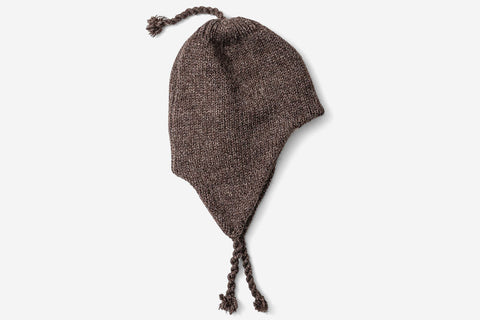 WOOL FLAP HAT 2019 - Brown