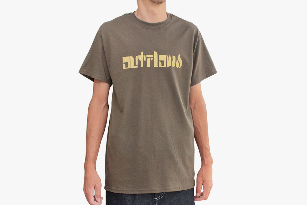 ORIGINAL LOGO T-SHIRT - Olive/Cream