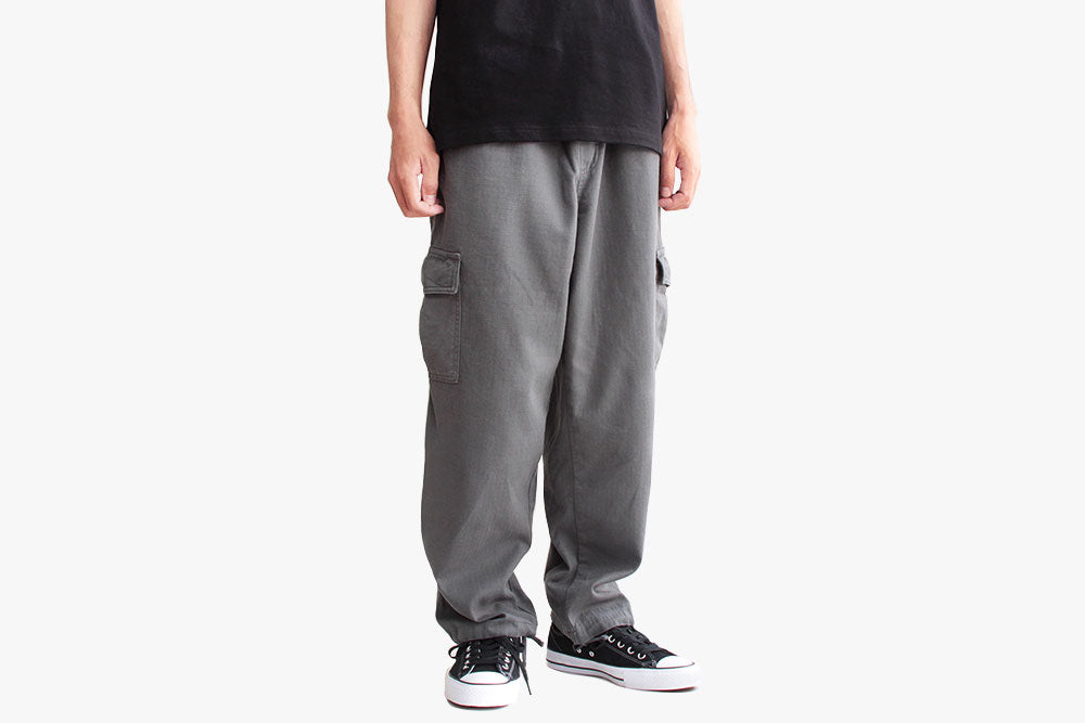 CARGO PANTS - Grey Green