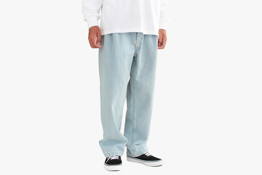 DENIM CHINOS - Bleach Blue FA19