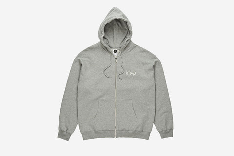 STROKE LOGO ZIP HOODIE - Heather Grey
