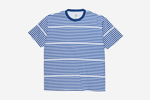 STRIPE LOGO TEE - Dark Blue