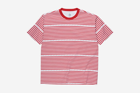 STRIPE LOGO TEE - Red