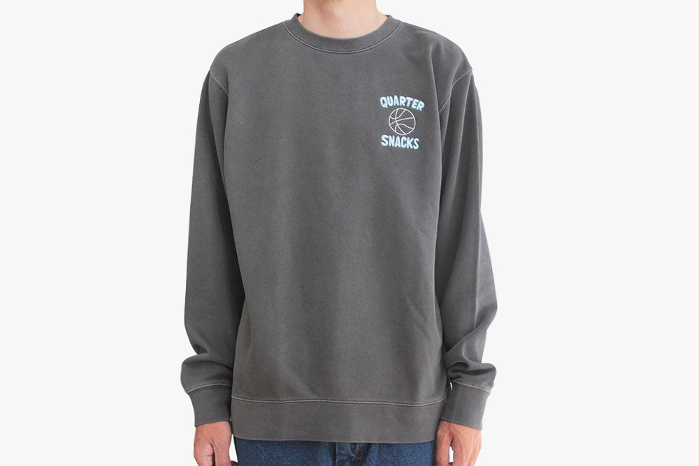 BALL IS LIFE WASHED CREW NECK - Washed Charcoal