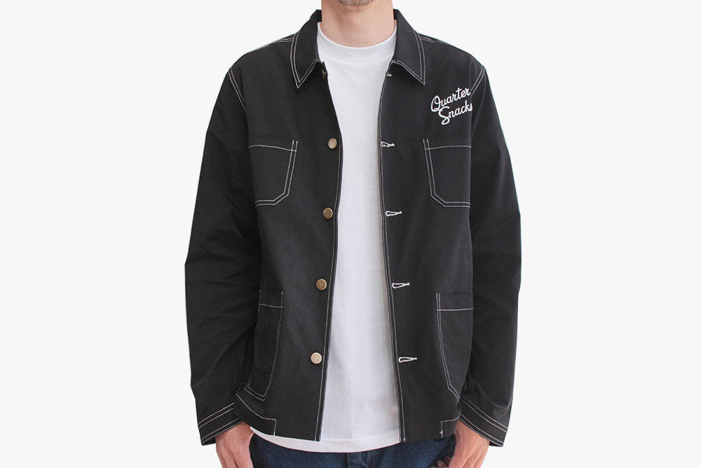 NYLON CHORE JACKET - BLack