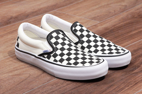 CHECKERBOARD SLIP-ON PRO - Black/Off White
